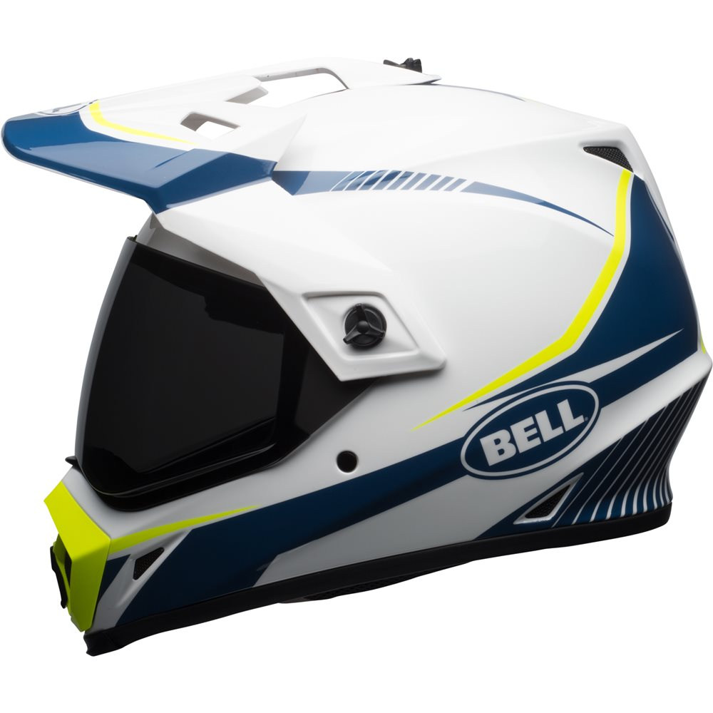 bell mx 9 adventure torch mips helmet white blue cully 39 s yamaha. Black Bedroom Furniture Sets. Home Design Ideas